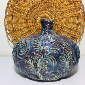 Other - Vintage .Noemi Antique Finish Blue Gold Ceramic De